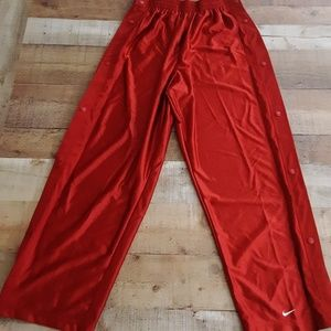 Vintage Nike Basketball Warm up Pants Side Snap XL